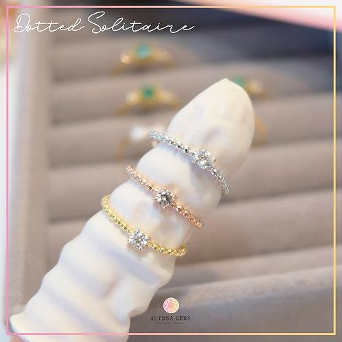แหวน Dotted Solitaire