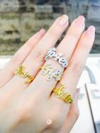 แหวนตัวอักษร แบบธรรมดา และ แหวนตัวอักษร แบบธรรมดา (ฝังเพชรทุกตัว)