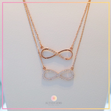 Eternity, and Infinity Necklace