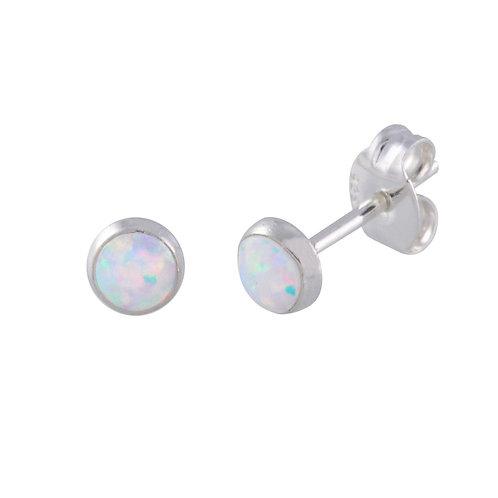 White Opal Circle Posts