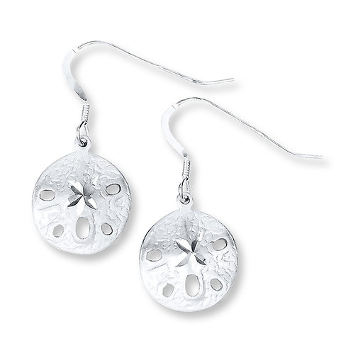 Sterling Silver Sand Dollar Earrings