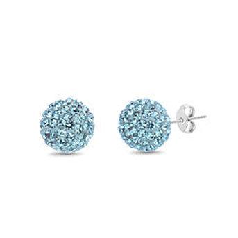 Baby Blue Swarovski Earrings