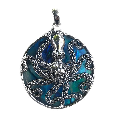 Sterling Silver Abalone Octopus