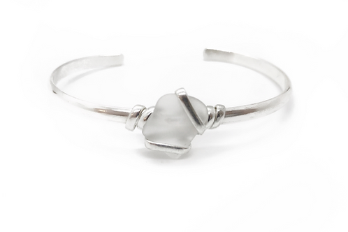 Sea Glass Bracelet Cuff