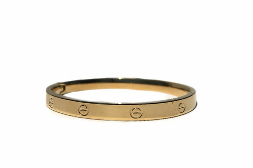 Gold Stainless Steel Clasp Bracelet