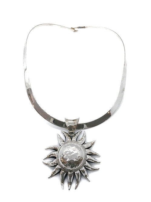 Sterling Silver Sun Necklace