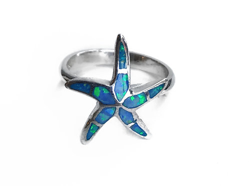 Fire Opal Starfish Ring