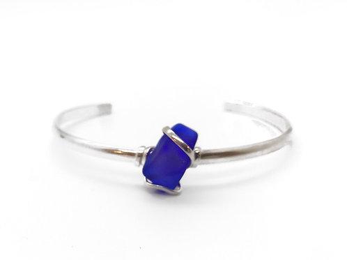 Cobalt Blue Sea Glass Bracelet