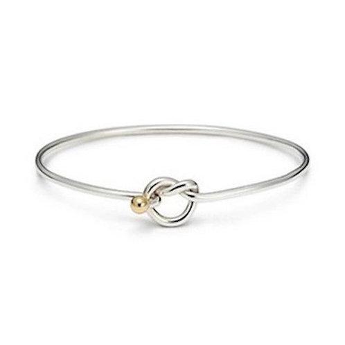 Love Knott Sterling Silver and 14K Gold Bracelet