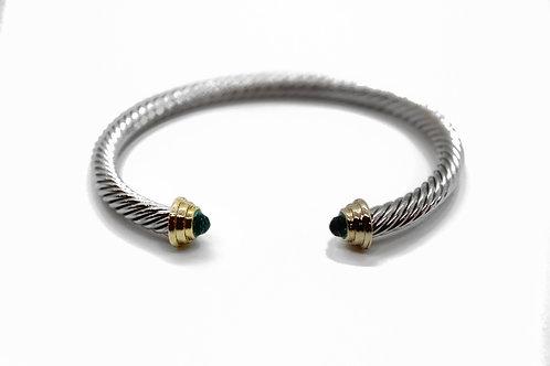 Black CZ Twist Bracelet