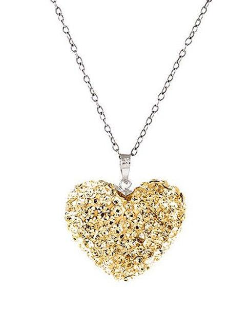 Swarovski Champaign Sterling Silver Necklace