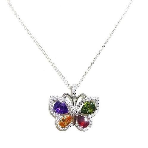 Sterling Silver Swarovski Butterfly Necklace