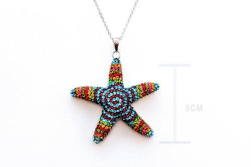 Swarovski Rainbow Sterling Silver Necklace