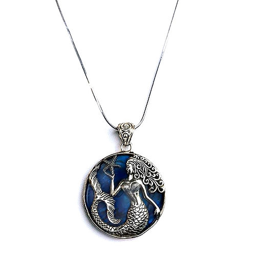 Mermaid Under The Sea Sterling Silver Necklace