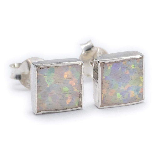 Square White Opal Posts