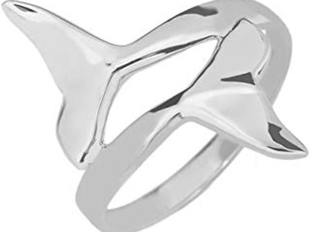 Sterling Silver Fin Tail Ring