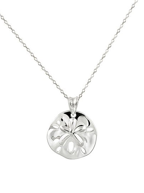Tiny Sterling Silver Sand Dollar Necklace