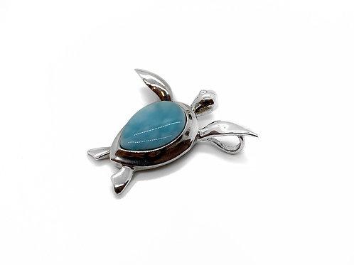 Larimar Sea Turtle Pendant