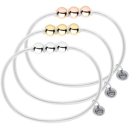 Authentic Le Stage Triple Bead Bracelet