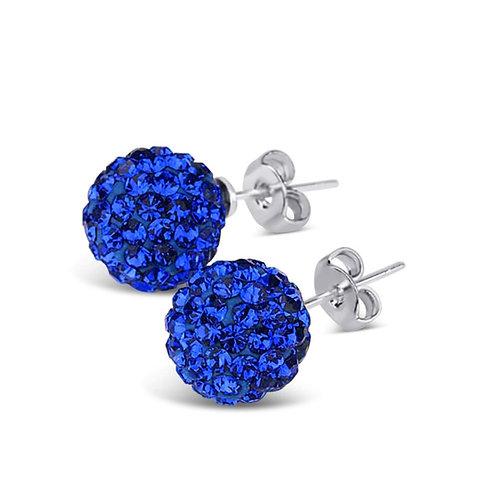 Royal Blue Swarovski Stud Earrings
