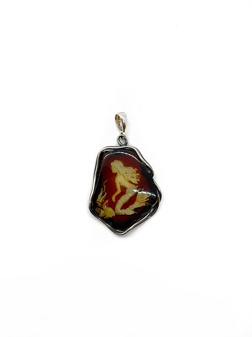 Amber Mermaid Pendant