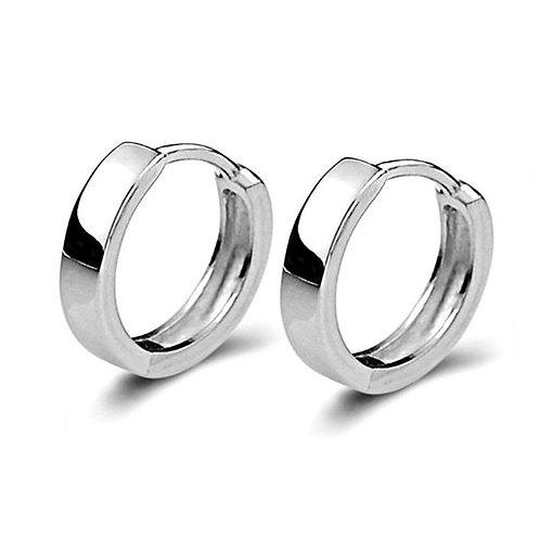 Sterling Silver Hoop Huggie Earrings