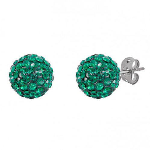 Green Sterling Silver Swarovski