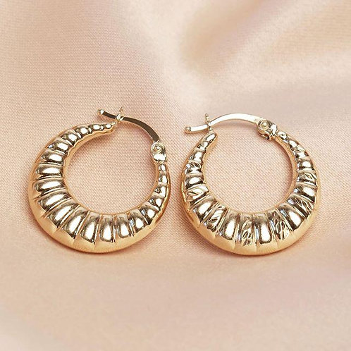 Gold Filled Croissant Earrings