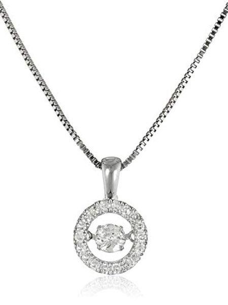 Sterling Silver Dancing Crystal Swarovski Necklace