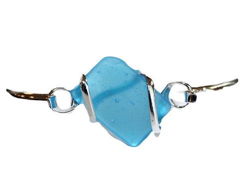 Sterling Silver Sea Glass Bracelet
