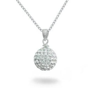 Sterling Silver Swarovski Circle Necklace