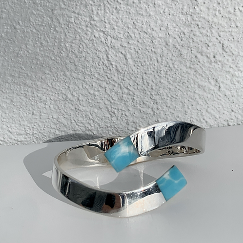 Handmade Sterling Silver Larimar Bracelet
