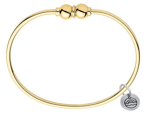 Authentic Le Stage 14K Gold Double Bead Bracelet