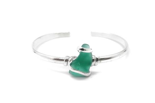 Sea Glass Bracelet Bangle