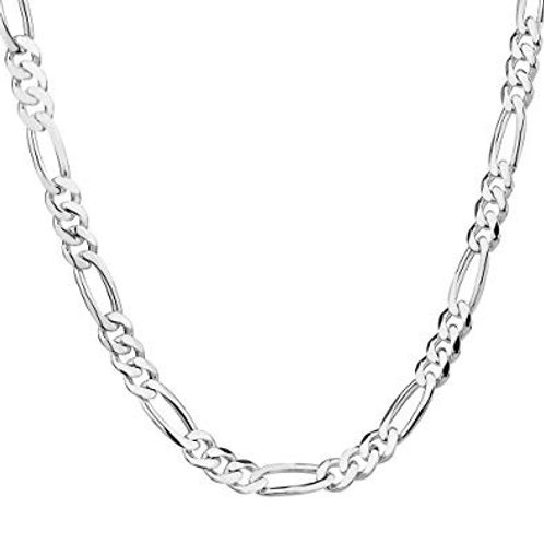 Sterling Silver Men's Figaro Chain