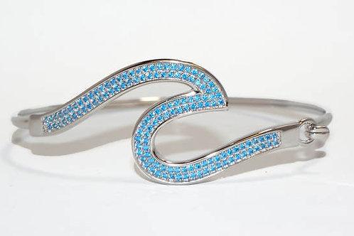 Blue Topaz Wave Bracelet