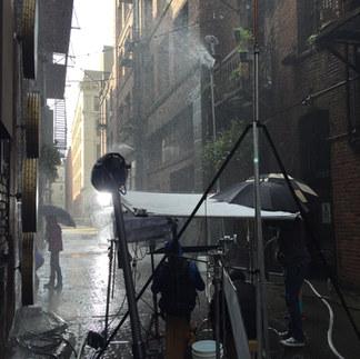 BTS Rain set up for Lenscrafters