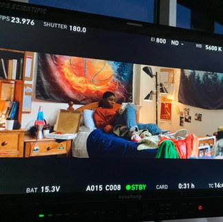 Dorm room for Microsoft shoot