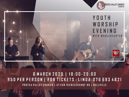 YOUTH WORSHIP EVENING 6 MARCH