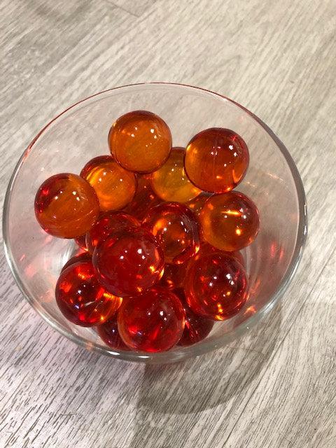 Perles de bain ronde - Pêche