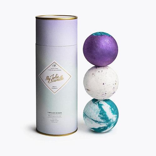 Coffret boules de bain Pretty Moments+collier - My Jolie Candle