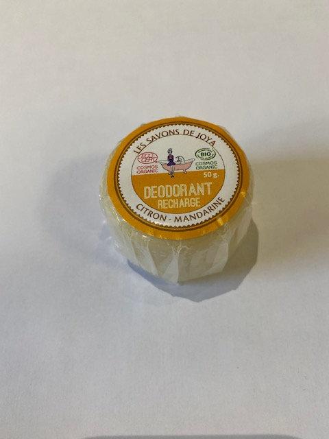 Recharge déodorant boite citron-mandarine-Les Savons de Joya