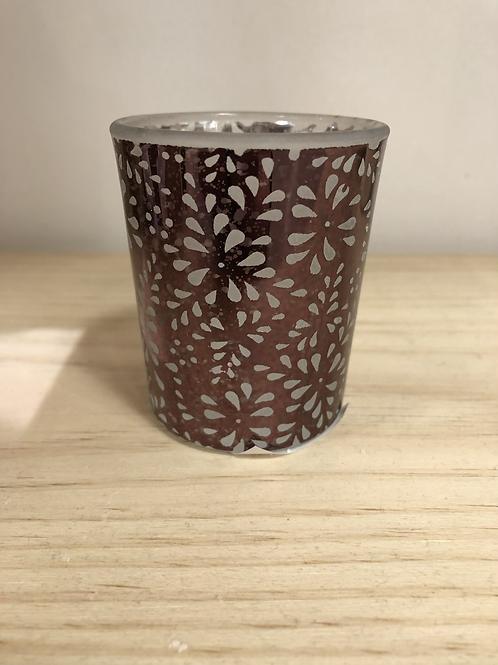 Photophores en verre Sheridan décor cuivré - Yankee Candle