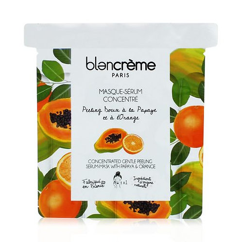Masque-Sérum Tissu Papaye/Orange - Blanc Crème