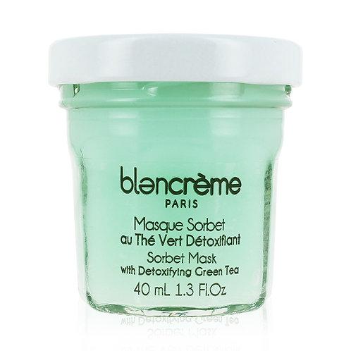 Masque sorbet visage au thé vert détoxifiant - Blancrème
