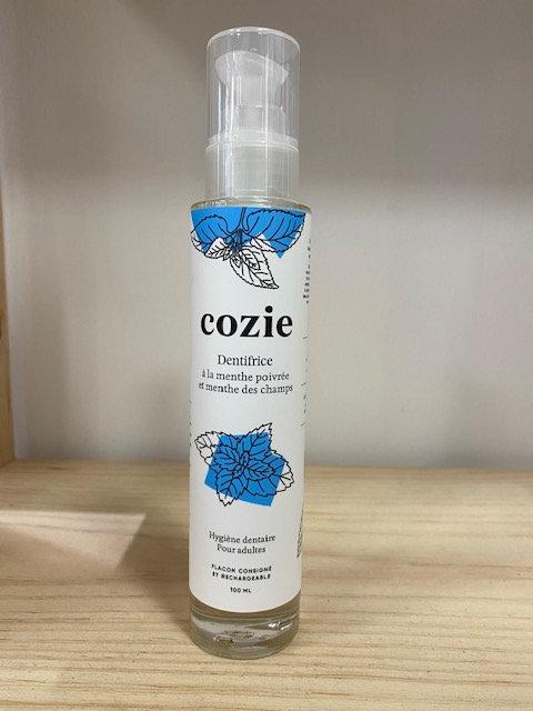 Dentifrice - à la menthe poivrée et menthe des champs - certifié COSMOS - Cozie