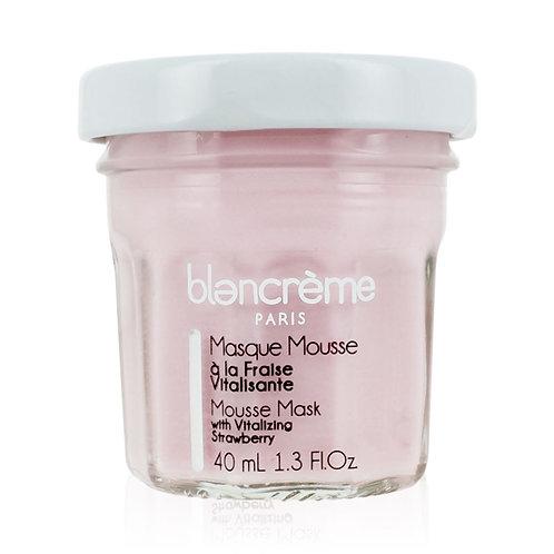 Masque mousse visage à la fraise vitalisante - Blancrème