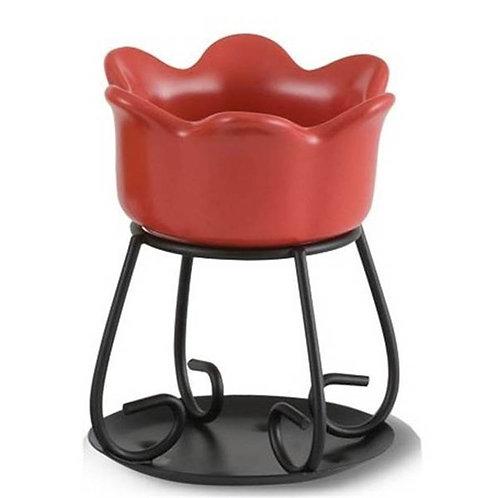 Brûleur à tartelette pétale bowl rouge
