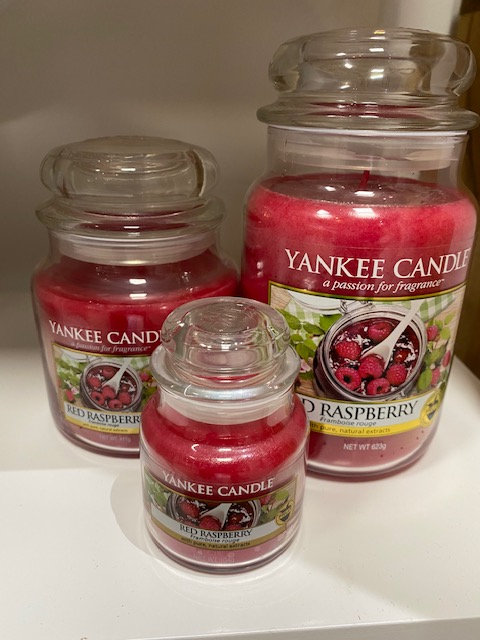 Jarres Yankee Candle - Framboise rouge