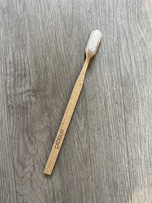 Brosse à dents adulte en hêtre rechargeable - Caliquo
